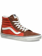 Vans Mens SK8-Hi Reissue Hight Top Lace Up Fashion Sneakers, Orange, Size 6.5
