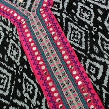 Womens Strappy Black & White Aztec Summer Beach Sun Dress Cover Up Size 10 to 20