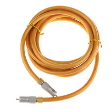 Gold 75 Ohm Premium Plated Digital Coaxial RCA Cable Wire Male to Male Plug