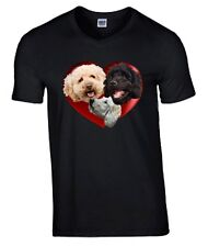 Labradoodle Heart Tshirt, T-shirt Crew or V Neck Birthday Gift Mothers Day Gift