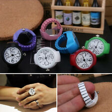 Fashion Finger Ring 1pc Wristwatch Quartz Creative Steel Watches Unisex Elastic