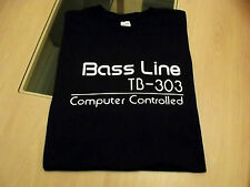 RETRO T SHIRT SYNTH DESIGN TB 303 BASS LINE SYNTH S M L XL XXL