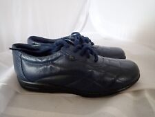 Dr Scholls Leather Quilt Oxford Double Air-Pillo Insoles navy walking shoes