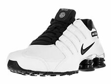 Nike Mens Shox NZ EU Running Shoes, White/Black/Black/Wolf Grey