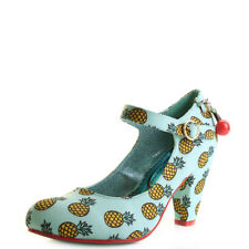 Poetic Licence By Irregular Choice Right Stripes Blue Yellow Heels Shoes Size