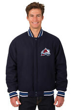 NHL COLORADO AVALANCHE JH DESIGN REVERSIBLE WOOL POLY TWILL JACKET 103 BSF7 NAVY