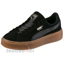 Puma Suede Platform Bubble Wns 366439 01 Womens Shoes Black Casual Sneakers