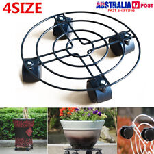NEW 25-40cm Rolling Garden Plant Pot Mover Wheels Trolley Caddy Plate Stand AU