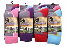 LADIES 3 6 12 PAIRS CHUNKY OUTDOOR HIKE BOOT TREKKING WALKING WINTER WARM SOCKS