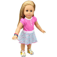 5PCs Doll Dress Accessories Clothes Uniform For 18 inch American Girl Doll Toys