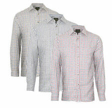 Mens Champion Salisbury Country Style Casual Check Long Sleeved Shirt 3069