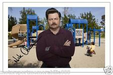 NICK OFFERMAN PARKS AND RECREATION AUTOGRAPH SIGNED 6x4 PHOTO PRINT RON SWANSON