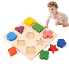 Puzzle Montessori Kids Baby Puzzle Jigsaw Learning Geometry Educational Wooden