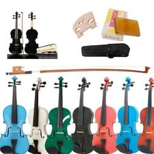 New 4/4 Natural Acoustic Violin & Case & Bow & Rosin for Violin Beginner