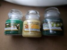 Yankee Candle Small Jars x 3 Perfect Tree Christmas Garland Star Anise RRP £26.9