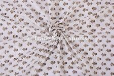 Indian Natural Cotton Voile Hand Block Print Running Sewing Fabric by the Yard
