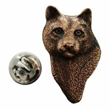 Cougar or Mountain Lion Head Pin ~ Antiqued Copper ~ Lapel Pin