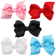 Baby Girls Kids Cute Bow Hair Headband Ribbon Bow Clip Alligator Party Fast Ship