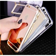 Luxury Ultra Thin Soft Mirror Metal Case Cover For Apple iPhone 5 SE 6s 7 7 Plus