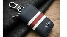 Car Key Cover Mini Cooper Bag Chains Case Holder Cowhide Leather Key Wallet NEW