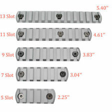 Grey 5,7,9,11,13 Slot Picatinny/Weaver Rail Section Segment for Keymod Handguard
