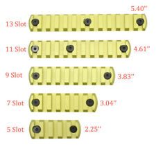 Grass Green 5,7,9,11,13 Slots Picatinny/Weaver Rail Section for Keymod Handguard