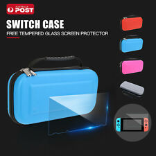Nintendo Switch Carry Bag Case,EVA Hard Case + Tempered Glass Screen Protector