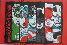DC Comics - Justice League Bars- Poster-Laminated Available-86cm x 57cm-Brand...