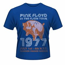 Pink Floyd T Shirt In The Flesh Nyc 77 Vintage Tour Poster Official Mens Blue,
