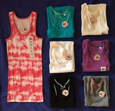 7 NWT SO brand womens LONG and LEAN ribbed RACERBACK tank tops juniors M LOT