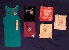 6 NWT SO brand womens LONG and LEAN ribbed RACERBACK tank tops juniors M LOT