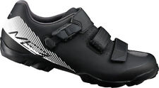 Shimano ME3 SPD MTB Bike Shoes Black/White Wide Fit