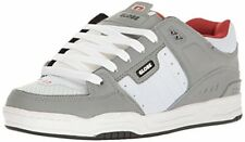 Globe Mens Fusion Skate Shoes, Grey/White/Red