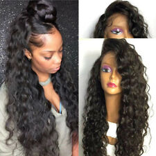 Brazilian Remy Human Hair 360 Front Lace Wig Silk Top Full Lace Deep Wavy Curly