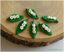 Lily of the Valley pendant beads, flower charms handmade craft jewellery making