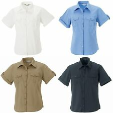 Russell Collection Womens/Ladies Short/Roll-Sleeve Casual/Office/Work Shirt