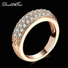 Cubic Zirconia Engagement Rings Wholesale Rose Gold/Silver Color Crystal Fashion
