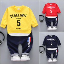 2PC Baby Boys Clothes Outfit Infant Kids Shirt Tops+Pants Outfit Clothes Set
