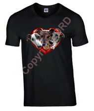 Tshirt, 3 Greyhounds in a Heart T-shirt Birthday Gift % to Hound Charity