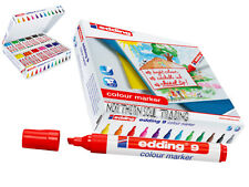 EDDING COLOUR MARKER 9 CHISEL NIB RETAIL CLASS PACK OF 144 MARKERS
