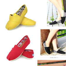 Monochrome Lazy Shoes Size 6-10 Loafers Canvas Slip-On Flats Shoes   For Women