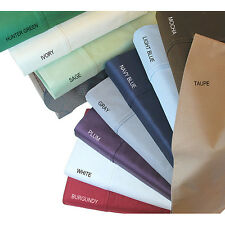 SELECT REQUIRED SIZE 4 PC BED SHEET SET 1000TC EGYPTIAN COTTON ONLY SOLID COLOR