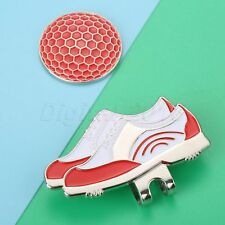Fashion Shoes Design Alloy Hat Clip Removable Golf Ball Marker Fit For Cap Vison