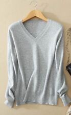 Women Grey Color V-Neck Knitted Slim Fit Winter Wear Sweater