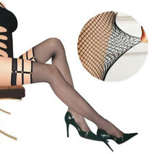 Woman Lace Sexy Stockings Punk Fishnet Top Thigh High Hold-up Hollow Long Socks