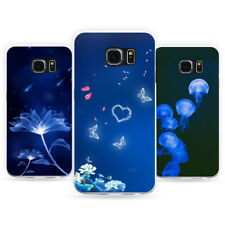 Fancy Blue Pattern Phone Case Cover for Samsung Galaxy S8 S7 Edge J7 Gracious