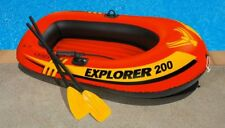 Inflatable Pool Boat 2-Person Seat Kids Pool Toy Raft Hold 120Lb Oars Air Pump