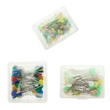 MagiDeal 100 Flat Flower Tie Head Pins Patchwork Straight Pins Sewing Needle