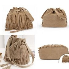 FASHION LADY TASSLE BAG FRINGE TASSEL SHOULDER MESSENGER HOBO HANDBAG PURSE  M89