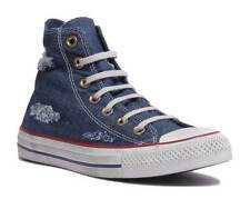 Converse Chuck Taylor All Star Ripped Jeans Women BlueTrainers Size UK 3 - 8
